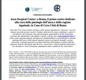COMUNICATO STAMPA Anca Surgical Center Roma